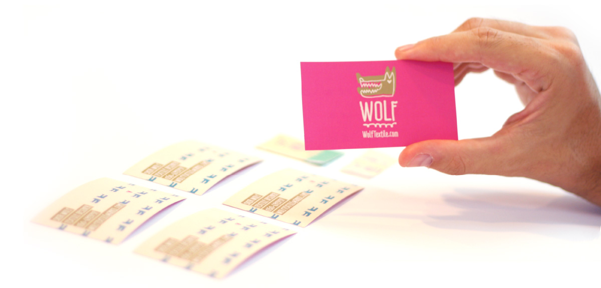 Wolf Textile Cards